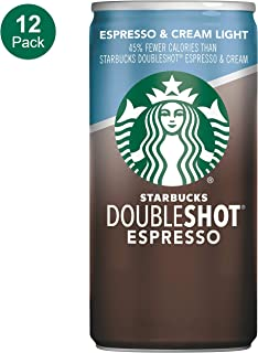 Starbucks Doubleshot, Espresso + Cream Light, 6.5 Ounce, 12 Pack