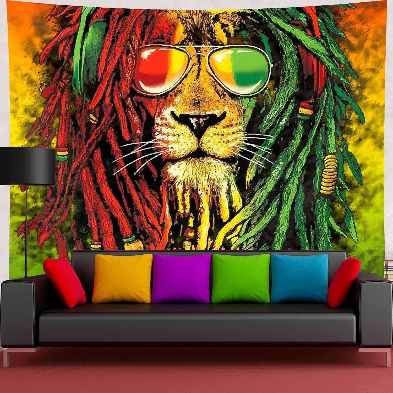 Simsant Free Shipping Cheap Bargain Gift Rasta Rastafarian Tapestry Lion Bob Head H Wall Nippon regular agency