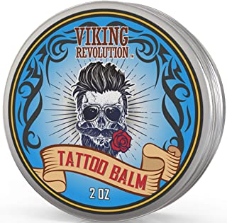 Viking Revolution Tattoo Care Balm for Before, During & Post Tattoo – Safe, Natural Tattoo Aftercare Cream – Moisturizing ...