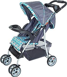 Moon Trek - One Fold Stroller - Blue