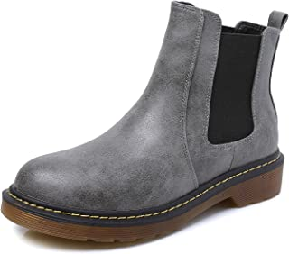 Smilun Lady¡¯s Chelsea Ankle Boot Classic Chunky Heel Elastic U Gusset Shoes