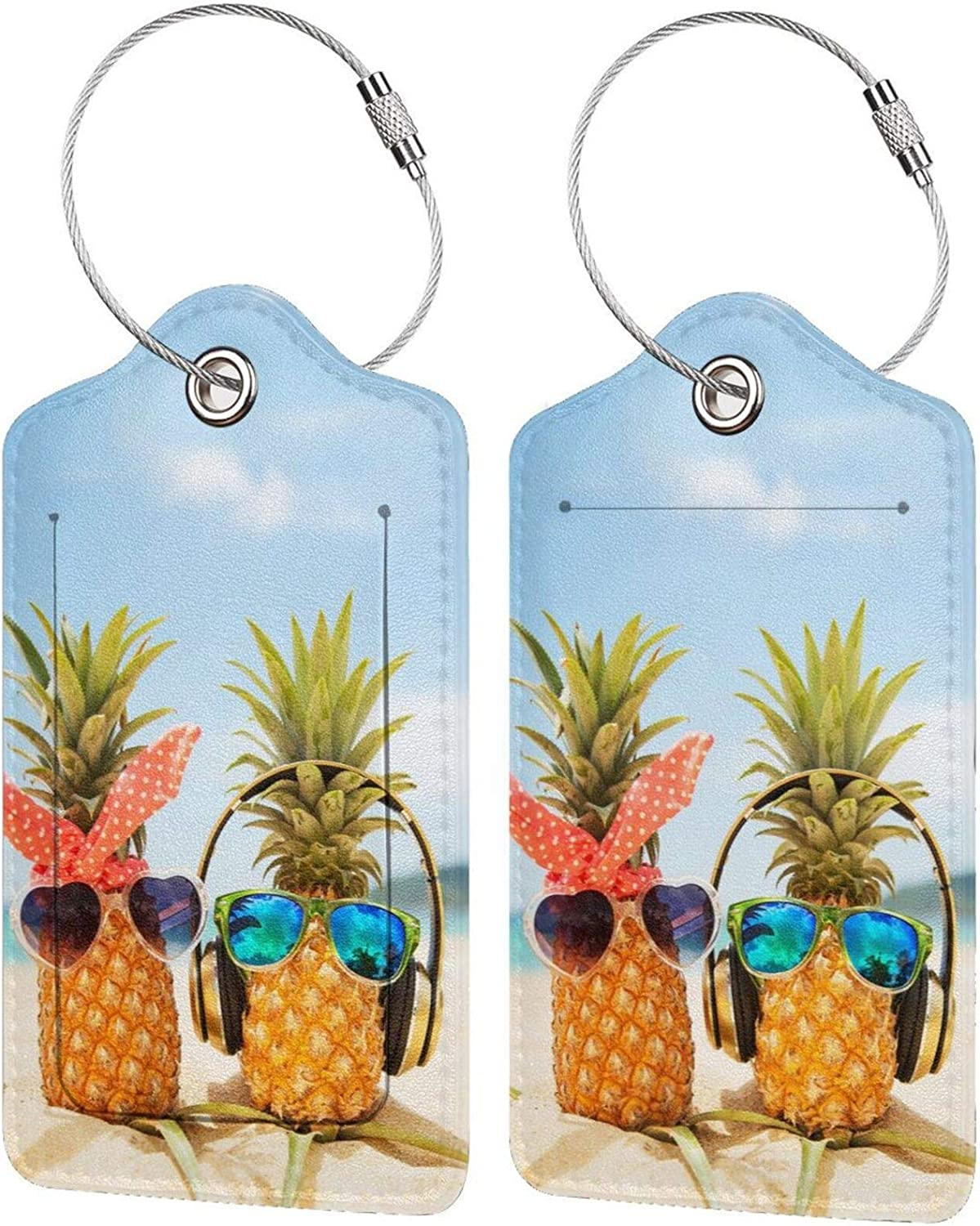 HHFASN Pineapple Cheap mail order specialty store with Fashion Sunglasses Tags Fun 2-Pack Max 60% OFF Luggage