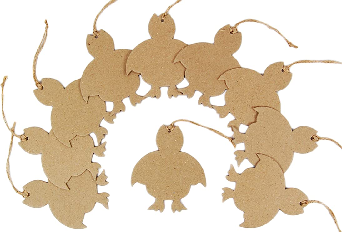 Country Love Crafts Chick Hanging Tag Papier Mache, Pack Of 10