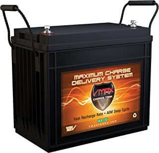 Vmaxtanks VMAX SLR155 AGM 12v 155ah Deep Cycle SLA Rechargeable Battery for Solar and Golf, Pv Solar Panels, Smart chargers, Wind Turbine and Inverters.