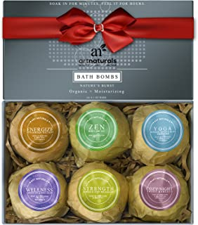 ArtNaturals Bath Bombs Gift Set - 6 Bubble Bath Bomb Fizzies - w/Essential Oils, Shea & Cocoa Butter - Arom...