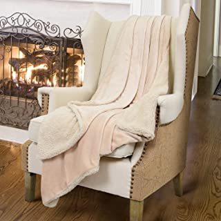 Catalonia Sherpa Throws Blanket, Reversible Match Color Super Soft Fuzzy Comfy Micro Plush Fleece Snuggle Blanket All Season for TV Bed or Couch 50x 60Latte