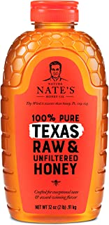 Nature Nate's 100% Pure Raw & Unfiltered Honey, Squeeze Bottle; All-natural Sweetener, No Additives, Texas, 2 Pound (Pack ...
