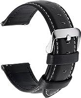 Fullmosa 14mm 16mm 18mm 19mm 20mm 22mm 24mm Bracelet Montre en Cuir Véritable, 12 Couleurs Axus Montre Bracelet à...
