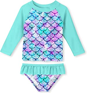 Toddler Girls Swimsuit Rashguard Set Summer Beach...