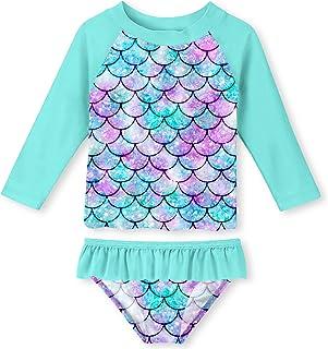Toddler Girls Swimsuit Rashguard Set Summer Beach...