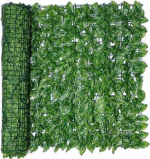 GonGYi Konstgjord murgröna trädgårdsstaket skärm – 0,5 x 1 m, trädgård sekretess och skyddande skärmar falsk murgröna klät...