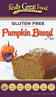 Really Great Food Company – Gluten Free Pumpkin Bread Mix – Large 19 ounce box - No Nuts, Soy, Dairy, Eggs - Vegan, Kosher, Non-GMO and Plant Based