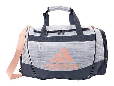 adidas Defender III Small Duffel (Two-Tone White/Onix/Haze Coral) Duffel Bags