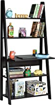 DeckUp Aries Ladder Study Desk and Office Table (Dark Wenge, Matte Finish)