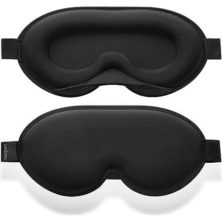 Masque de nuit Unimi 2020 pour femmes et hommes, masque de sommeil 3D en mousse à mémoire de forme et soie, bloque toute la lumière à 100%, masque de sommeil pour les voyages, les siestes, le yoga