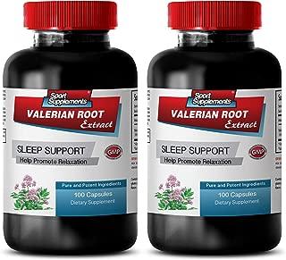 Blood Pressure Heart Rate - Valerian Root Extract 125MG - Help Promote Relaxation - Valerian melatonin Sleep aid - 2 Bottles (200 Capsules)