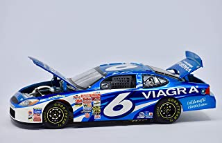 2002 - Team Caliber/NASCAR - Jack Roush Owner Series - Viagra Racing Team - Mark Martin #6 - Ford Taurus - Blue Chrome - 1:24 Scale Die Cast - Collectible