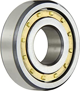 FAG NJ306E-M1-C3 Cylindrical Roller Bearing, Single Row, Straight Bore, Removable Inner Ring, Flanged, High Capacity, Brass/Bronze Cage, C3 Clearance, Metric, 30mm ID, 72mm OD, 19mm Width