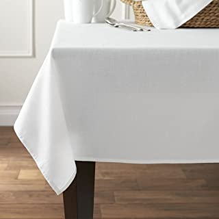 Mainstay Hyde Fabric Tablecloth, White, 60