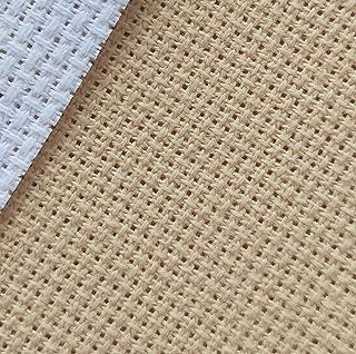 "12"" x 59"" 18CT Counted Cotton Aida Cloth Cross Stitch Fabric (Khaki)"