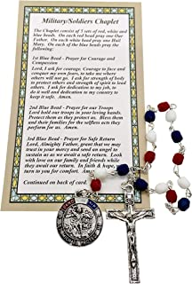 JWG Industries Military Soldiers St Michael Chaplet with Prayer Card
