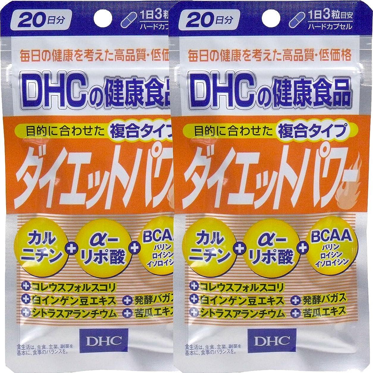 応じるブランクパッケージDHC ダイエットパワー 20日分 60粒 ×2個セット