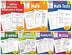 NEW Scholastic Success With - Grade 4 Books Set (7 books): Addition&Subtraction&Multiplication&Division, Math, Math Tests,...