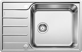 BLANCO LEMIS XL 6 S-IF Compact - Edelstahlspüle für die Küche für 60 cm breite Unterschränke - Mit IF-Flachrand, extra großem Becken und verkürzter Abtropffläche - 525110