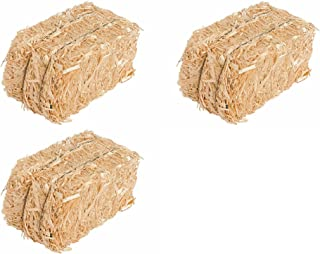 Straw Bale for Indoor or Outdoor Home Decor, 13 in, Set of 3