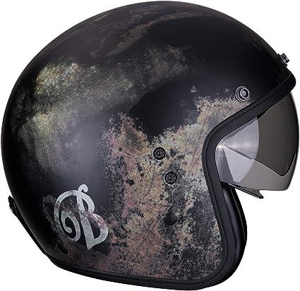 Scorpion Exo City Blurr Motorcycle Helmet Matt Silver Black Black Grey M Auto