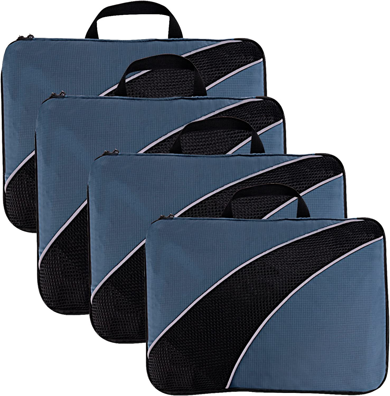 4 即納最大半額 Set Packing Cubes Light Nylon Trav 大特価!! Compression Weight Rip-Stop