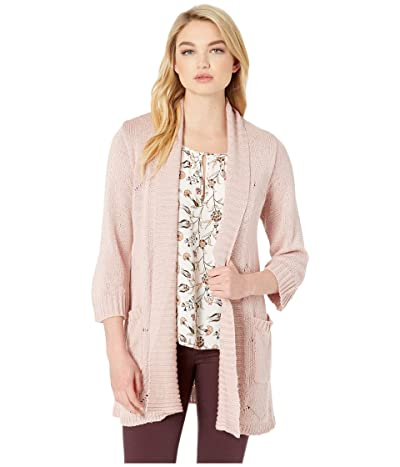 Jack by BB Dakota Knit Fresh Cardigan (Mauve Rose) Women
