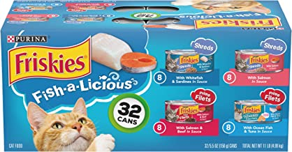 Purina Friskies Fish A Licious Variety Pack – 32×5.5 oz (050000294527)