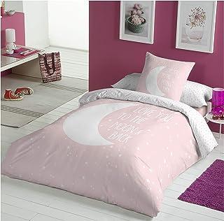 COTTON ARTean Funda de Cojin Infantil/Juvenil Moon Pink 50X50 cm.