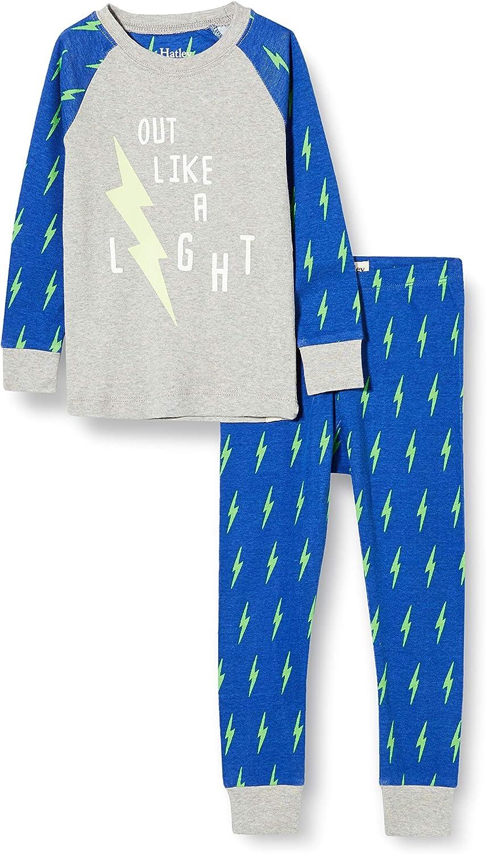 Hatley Boys' Organic Cotton Raglan Sleeve Printed Pajama Set