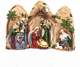 The Grotto of the Nativity 10 inch Nesting 3 Piece Figurine Set