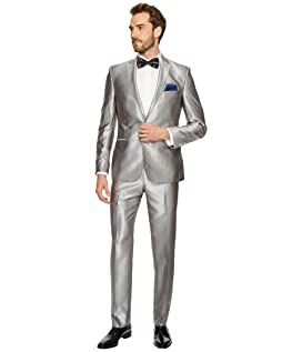 Two-Button Shawl Collar Solid Tuxedo