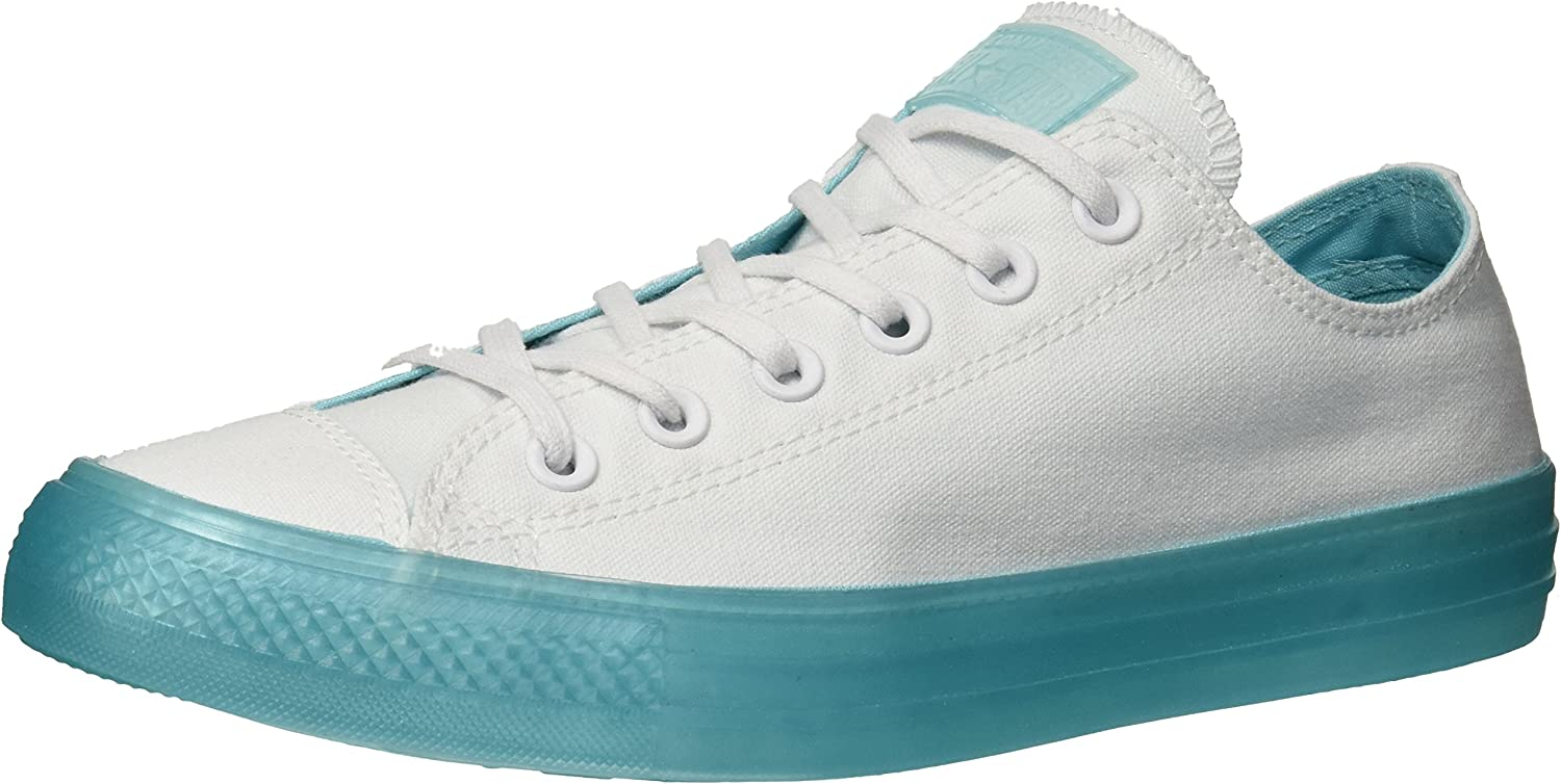 Converse Unisex-Adult's All Star Ox shoes (White Bleached Aqua)