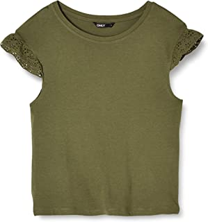 Only Onlhappy S/L Detail Top Jrs Camiseta para Mujer