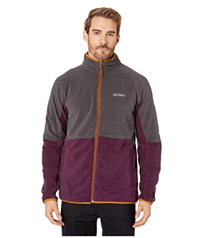 Columbia Basin Trailtm Fleece Full Zip Jacket (Black Cherry/Shark/Burnished Amber) Men