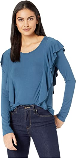 d9c4f881f3262d Majolica Blue. 4. Frye. Long Sleeve Ruffle Knit Top.  39.60MSRP   88.00