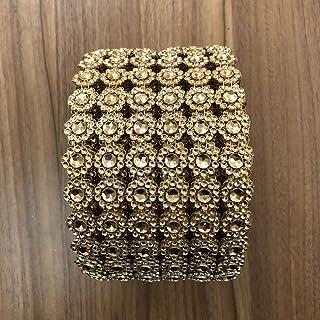 6 filas de 1 yarda de acrílico diamantes de imitación