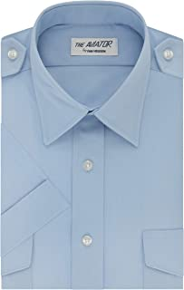 van heusen aviator shirt blue