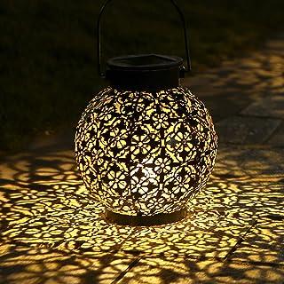 Lanterne Solaire, Tomshine LED Lampe lanterne extérieure, Etanche IP44, Sans fil Rechargeable pour Garden Patio Courtyard ...