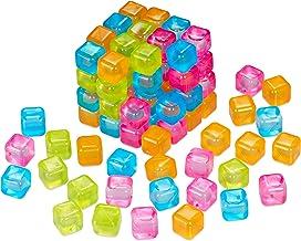 Relaxdays IJsblokjes herbruikbaar, set van 100 stuks, feestijsblokjes voor dranken, kunststof, kleurrijk