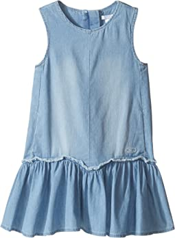 Chloe Kids - Denim Effect Sleeveless Dress From Adult Collection (Toddler/Little Kids)