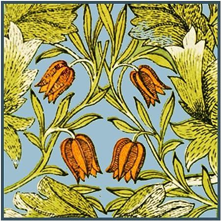 Orenco Originals William Morris Daffodil Flowers Detail Design Counted Cross Stitch Pattern