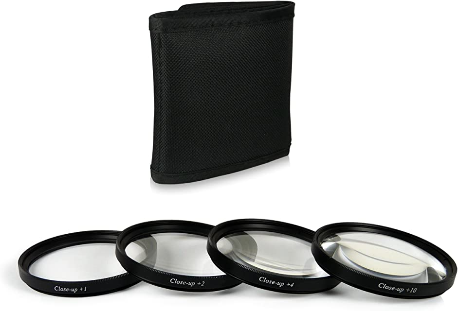 67mm Close up Macro +1 +2 +4 +10 Pack de filtros Compatible con Canon EOS 40D 5D Mark III 60D 6D 7D EOS 1D X Nikon D5100 D5300 D7000 D7100