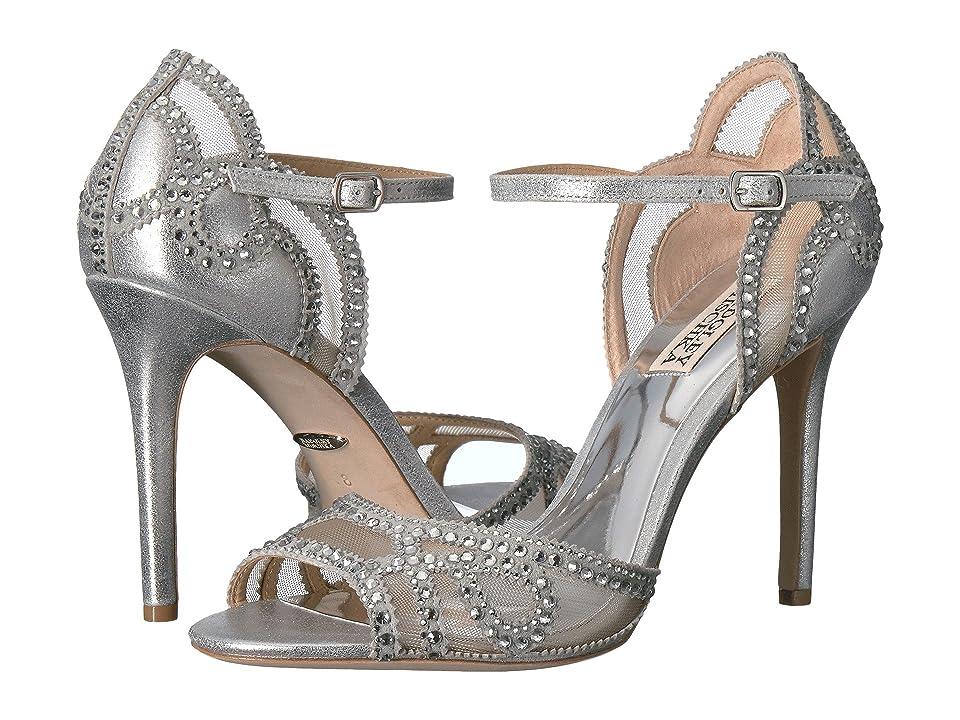 Badgley Mischka Tansy (Silver Metallic Suede) High Heels