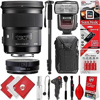 シグマ50mm f1. 4DG HSM Artレンズfor Canon EOS EF DSLRカメラ+ 16GB 17pcバンドルfor 80d、77d、70d、60d、60da、50d、7d、6d、5d、5ds、1ds、t7i、t7s、t7、t6s、t6i、t6、t5i、t5、sl2and sl1